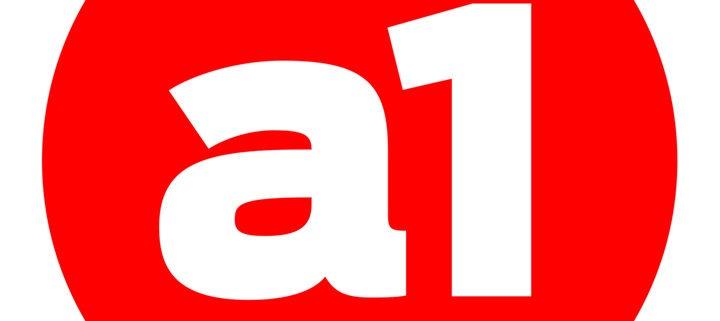 rød cirkel med a1 i hvid. a1kommunikations logo
