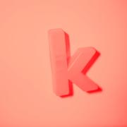 Fotografi af bogstavet k
