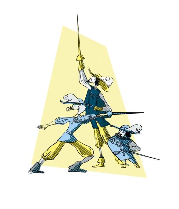 De tre retoriske musketerer, etos, logos og patos